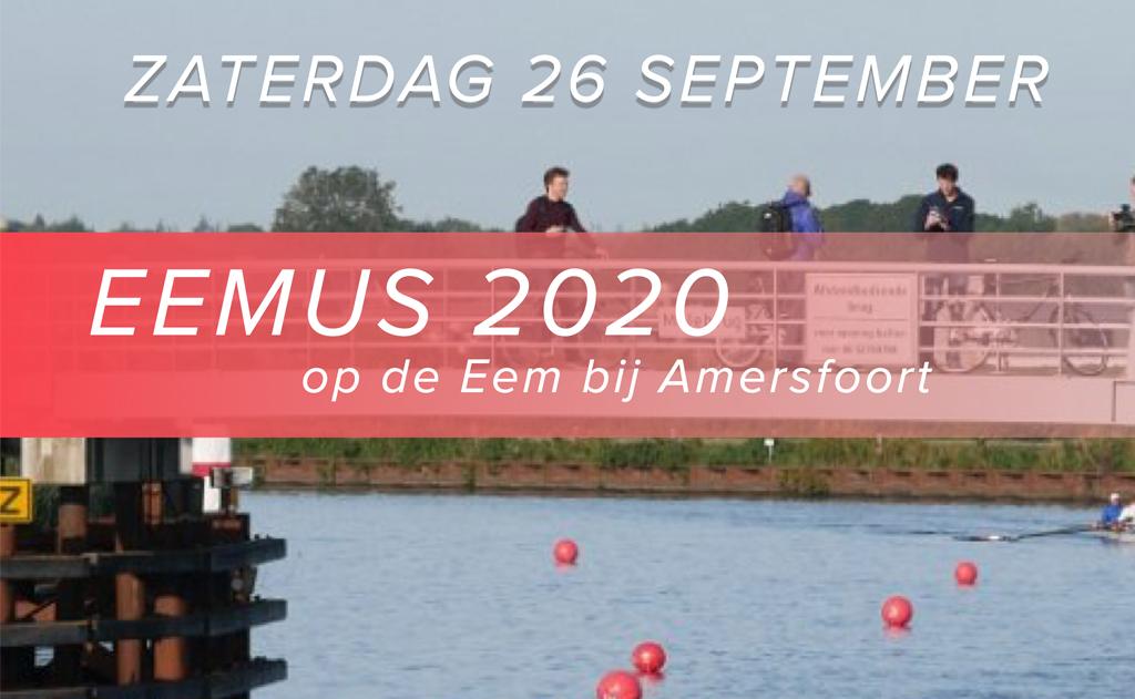 Eemus 2020: onderlinge wedstrijd roeiers De Eem en Hemus